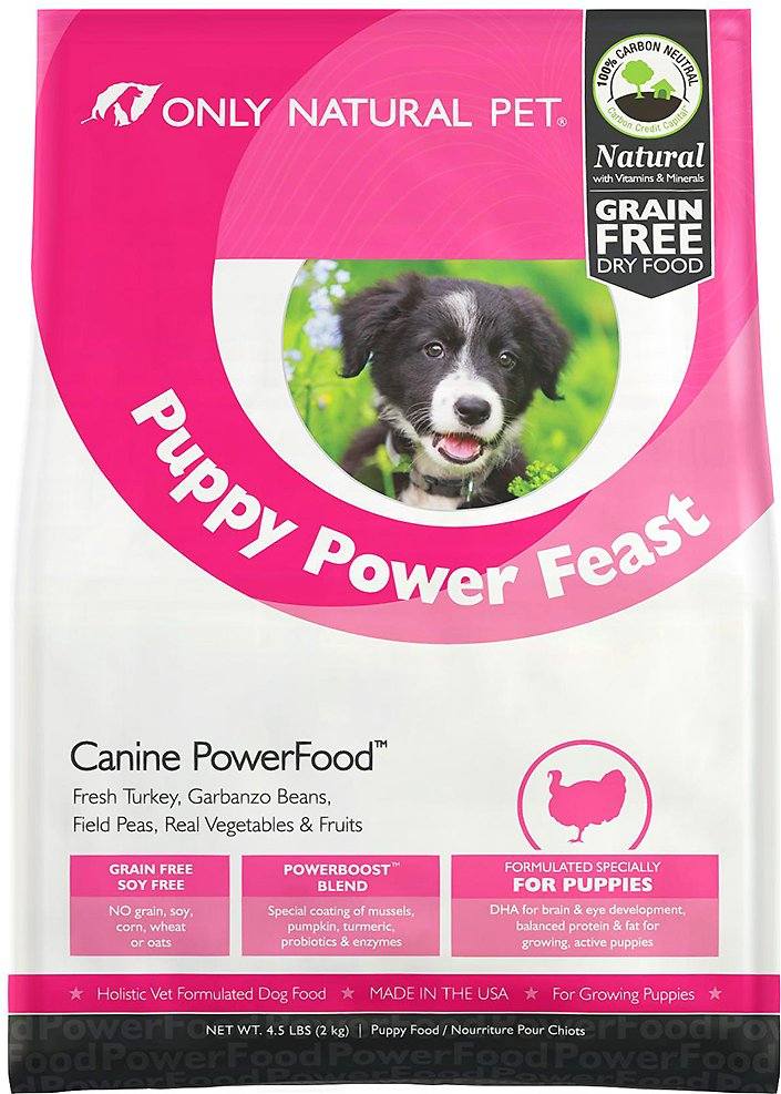 Only Natural Pet Canine Powerfood Puppy Power Feast Grain Free Dry Dog Food 4 5 Lb Bag Chewy Com
