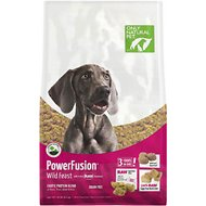 Only Natural Pet PowerFusion Wild Feast Grain-Free Raw Infused Dry Dog Food, 18-lb bag