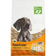 Only Natural Pet PowerFusion Poultry Feast Grain-Free Raw Infused Dry Dog Food, 18-lb bag
