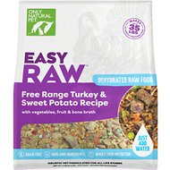 Only Natural Pet EasyRaw Turkey & Sweet Potato Raw Grain-Free Dehydrated Dog Food, 7-lb bag