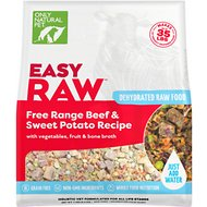 Only Natural Pet EasyRaw Beef & Sweet Potato Raw Grain-Free Dehydrated Dog Food, 7-lb bag