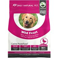Only Natural Pet Canine PowerFood Wild Feast Grain-Free Dry Dog Food, 4.5-lb bag