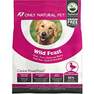 Only Natural Pet Canine PowerFood Wild Feast Grain-Free Dry Dog Food, 22.5-lb bag