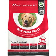 Only Natural Pet Canine PowerFood Red Meat Feast Grain-Free Dry Dog Food, 4.5-lb bag