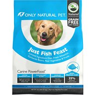 Only Natural Pet Canine PowerFood Just Fish Feast Limited Ingredient Grain-Free Dry Dog Food, 22.5-lb bag