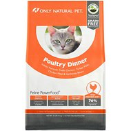 Only Natural Pet Feline PowerFood Poultry Dinner Grain-Free Dry Cat Food, 10-lb bag