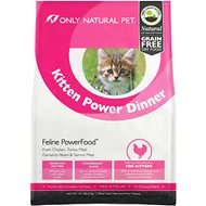 Only Natural Pet Feline PowerFood Kitten Power Dinner Grain-Free Dry Cat Food, 4.5-lb bag