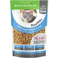 Only Natural Pet RawNibs Salmon & Cod Grain-Free Freeze-Dried Cat Food, 8-oz bag