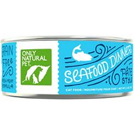 Only Natural Pet PowerPate Seafood Dinner Grain-Free Canned Cat Food, 5.3-oz, case of 24