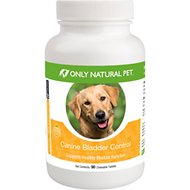 Only Natural Pet Canine Bladder Control Chewable Tablets Dog Supplement, 90 count
