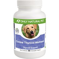 Only Natural Pet Canine Thyroid Wellness Chewable Tablets Dog Supplement, 90 count