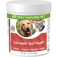 Only Natural Pet Complete Gut Health Probiotic & Enzyme Digestive Powder Dog & Cat Supplement, 3.5-oz bottle