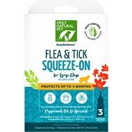 Only Natural Pet EasyDefense Herbal Squeeze-On Flea, Tick & Mosquito Dog Treatment, over 40 lbs, 3 treatments