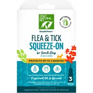 Only Natural Pet EasyDefense Herbal Squeeze-On Flea, Tick & Mosquito Dog Treatment, up to 15 lbs, 3 treatments