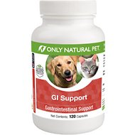 Only Natural Pet GI Support Capsules Dog & Cat Supplement, 120 count
