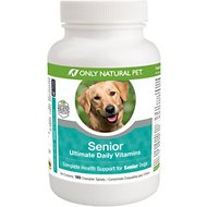 Only Natural Pet Senior Ultimate Daily Vitamin Chewable Tablets Dog Supplement, 180 count