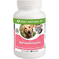 Only Natural Pet ShroomImmune Immune Support Capsules Dog & Cat Supplement, 90 count