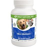 Only Natural Pet Skin Wellness Chewable Tablets Dog Supplement, 90 count