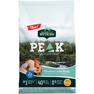 Rachael Ray Nutrish PEAK Grain-Free Natural Woodland Catch Recipe with Chicken, Trout & Salmon Dry Cat Food, 12-lb bag