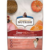 Rachael Ray Nutrish Inner Health Turkey with Chickpeas & Salmon Recipe Dry Cat Food, 6-lb bag