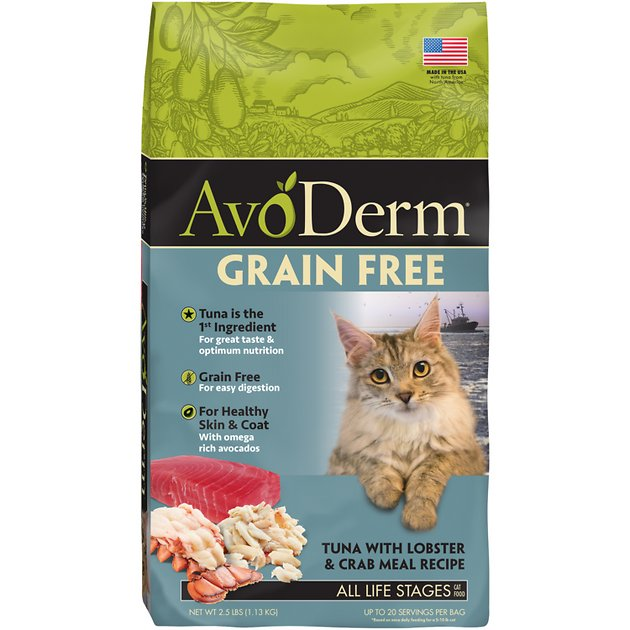 4320e0d0d8 AvoDerm Grain-Free Tuna with Lobster   Crab Meal Dry Cat Food