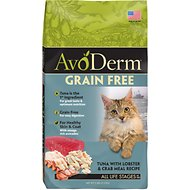 AvoDerm Grain-Free Tuna with Lobster & Crab Meal Dry Cat Food, 5-lb bag