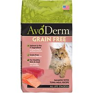 AvoDerm Grain-Free Salmon with Tuna Meal Dry Cat Food, 5-lb bag
