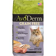 AvoDerm Grain-Free Duck with Turkey Meal Dry Cat Food, 2.5-lb bag