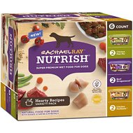 Rachael Ray Nutrish Natural Hearty Recipes Variety Pack Wet Dog Food, 8-oz tub, case of 6