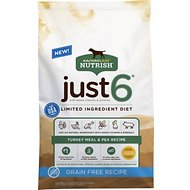 Rachael Ray Nutrish Just 6 Natural Grain-Free Turkey Meal & Pea Limited Ingredient Diet Dry Dog Food, 12-lb bag