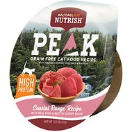Rachael Ray Nutrish Peak Natural Grain-Free Coastal Range Recipe with Real Tuna & Beef in Savory Sauce Wet Cat food, 2-oz, case of 24