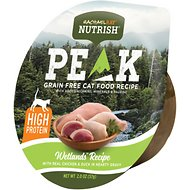 Rachael Ray Nutrish Peak Natural Grain-Free Wetlands Recipe with Real Chicken & Duck in Hearty Gravy Wet Cat Food, 2-oz, case of 24