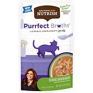 Rachael Ray Nutrish Purrfect Broths All Natural Grain-Free Classic Chicken Recipe Cat Food Topper, 1.4-oz, case of 24