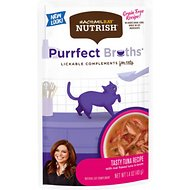 Rachael Ray Nutrish Purrfect Broths All Natural Grain-Free Tasty Tuna Recipe Cat Food Topper, 1.4-oz, case of 24