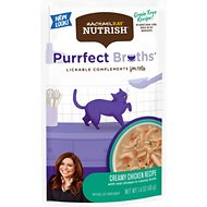 Rachael Ray Nutrish Purrfect Broths All Natural Grain-Free Creamy Chicken Bisque Recipe Cat Food Topper, 1.4-oz, case of 24