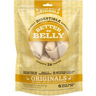 Better Belly Chicken Liver Flavor Rawhide Bone Dog Treats, 6 count