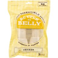 Better Belly Chicken Liver Flavor Rawhide Bone Dog Treats, Medium, 2 count