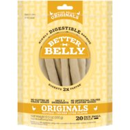 Better Belly Chicken Liver Flavor Rawhide Roll Dog Treats, 20 count