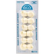Better Belly Dental Total Care Rawhide Bone Dog Treats, Mini, 6 count