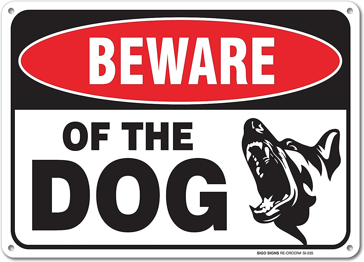 Beware Of Dog Aluminum Sign Chewy