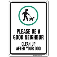 "Sigo Signs ""Clean Up After Your Dog"" Aluminum Sign"