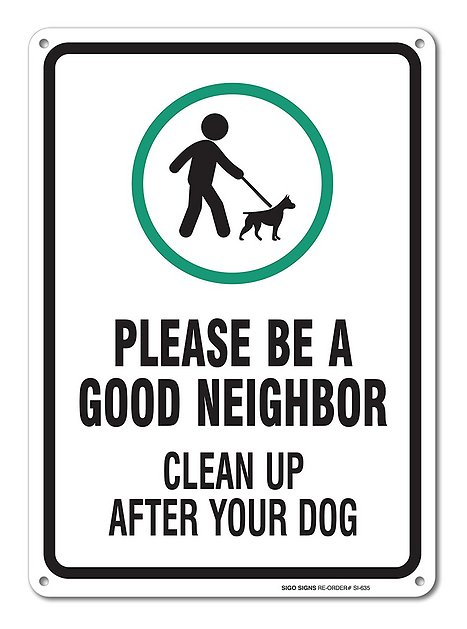 Sigo Signs Clean Up After Your Dog