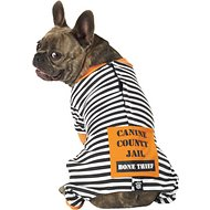 PetRageous Designs Bone Thief Striped Dog Pajamas, Medium