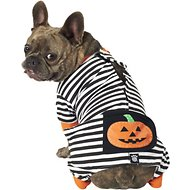 PetRageous Designs Pumpkin Patch Striped Dog Pajamas, Medium