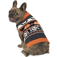 PetRageous Designs Halloween Fair Isle Dog & Cat Sweater, Medium