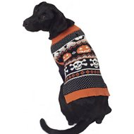 PetRageous Designs Halloween Fair Isle Dog & Cat Sweater, Large