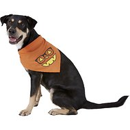 Pup Crew Smiley Pumpkin Dog & Cat Bandana, Medium/Large
