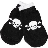 Pup Crew Non-Skid Skull & Bones Dog Socks, Medium/Large