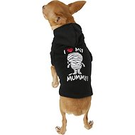 "SimplyWag ""I Heart My Mummy"" Dog & Cat Hoodie, XX-Small"