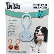 Twigo Pet ID Tags Silencer Pocket for Cats & Dogs, White